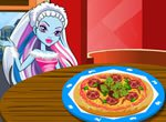 Jogos das monster high: Abbey Bominable Decorando a Pizza