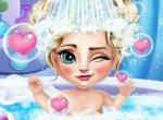 Elsa o Banho do Bebê